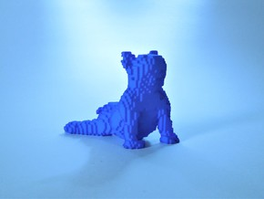 Illusory Sad Puppy in Blue Processed Versatile Plastic