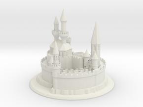 1/8 Sand Castle in White Natural Versatile Plastic