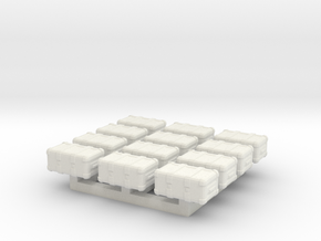 1/87 Scale Weapons Case x12 in White Natural Versatile Plastic