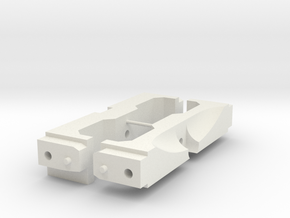 1/10 Scale Jeep mounts for SCX10 (front and rear) in White Natural Versatile Plastic