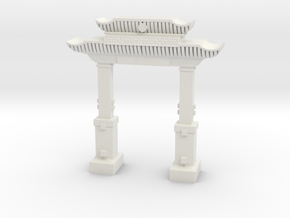 """chinese """"welcome"""" ark doorway in tabletop scale in White Natural Versatile Plastic"""