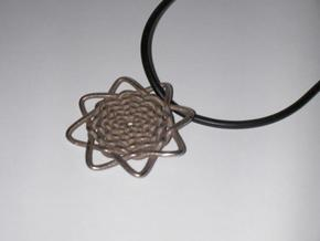 Celtic Knot Pendant in Polished Bronzed Silver Steel