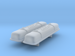 1/25 Oldsmobile Valve Covers (with script) in Smooth Fine Detail Plastic