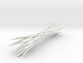 Knife Rest Twisted Wire1.1 in White Natural Versatile Plastic