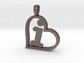 Alpha Heart 'I' Series 1 in Polished Bronzed Silver Steel