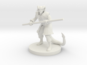 Tiefling Male Monk in White Natural Versatile Plastic