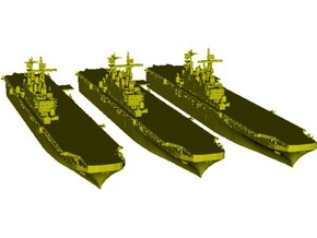 1/1800 scale USS Tarawa LHA-1 assault ships x 3 in Smooth Fine Detail Plastic
