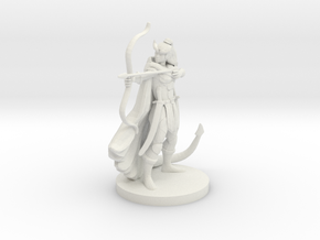 Tiefling  Female  Ranger in White Strong & Flexible