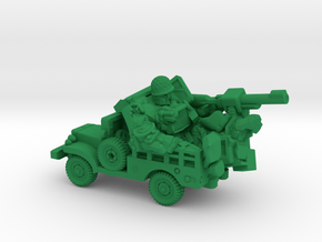 """Sarge"" and ""Eggsy"", Vehicle Mode Miniature in Green Processed Versatile Plastic"
