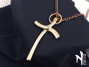 Cross Pendant in 18k Gold Plated Brass