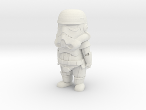Cute StormTrooper in White Natural Versatile Plastic