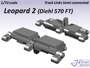 1/72 Leopard 2 Track Links semi connected in Smooth Fine Detail Plastic