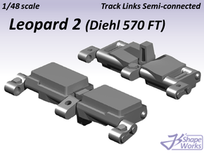 1/48 Leopard 2 Track Links semi-connected in Smooth Fine Detail Plastic