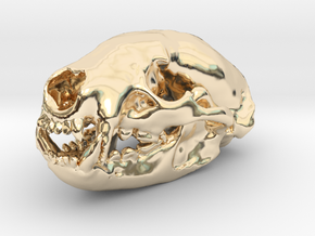 BADGER Skull Pendant in 14K Yellow Gold