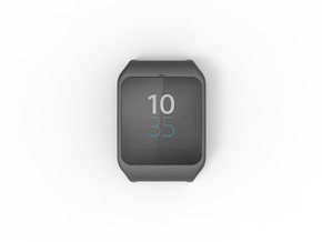 Sony SmartWatch 3 adapter 20mm in Black Natural Versatile Plastic