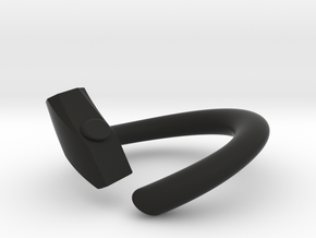 HAMMER in Black Natural Versatile Plastic: Small