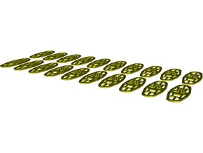 1/35 scale Norwegian Army military snowshoes x 20 in Smooth Fine Detail Plastic