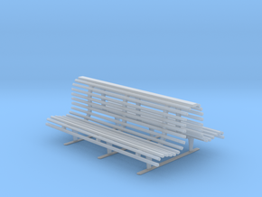 Printle Thing Double Bench 1/32 in Smooth Fine Detail Plastic