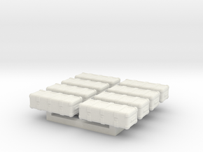 1/87 Scale Weapons Cases v4 x8 in White Natural Versatile Plastic