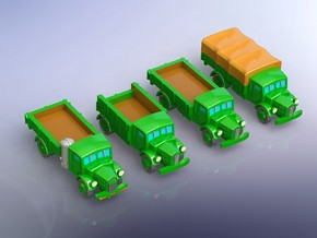 Czech Tatra T 27 Truck Variants 2 1/285 in Smooth Fine Detail Plastic