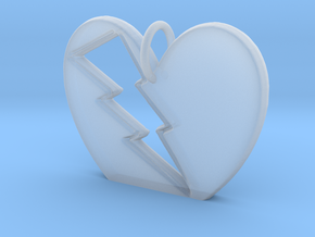 Lightening in your Heart pendant in Smooth Fine Detail Plastic