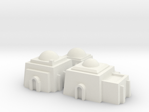 1/270 Tatooine Buildings in White Natural Versatile Plastic
