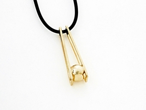 Geometric Pendant: Minimalist Design in Polished Brass