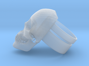 Skull Ring in Smooth Fine Detail Plastic