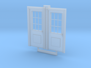 HO Doors With Knobs in Smoothest Fine Detail Plastic