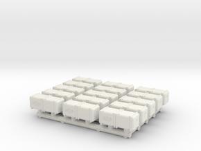 Bunker-Tec Storage Container Pack 3 in White Natural Versatile Plastic