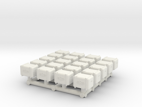 1/87 Scale Bunker-Tec Storage Container Pack 1 in White Natural Versatile Plastic