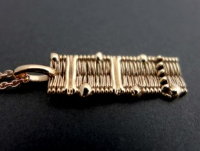 Cell Membrane Pendant - Science Jewelry in Polished Bronze