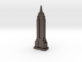 Empire State Building Miniature Replica- New York  in Polished Bronzed Silver Steel