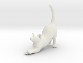 Printle Thing Cat 1/24 in White Natural Versatile Plastic