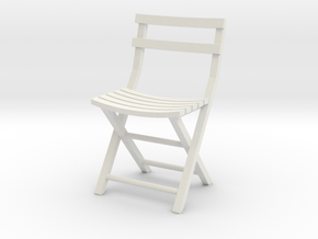 Bistro Chair various scales in White Natural Versatile Plastic: 1:12