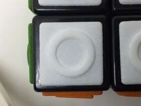 White replacement tile (Rubik's Blind Cube) in White Processed Versatile Plastic