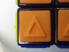 Orange replacement tile (Rubik's Blind Cube) in Orange Processed Versatile Plastic