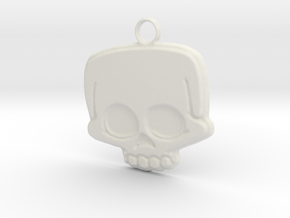 Funny Skull in White Natural Versatile Plastic