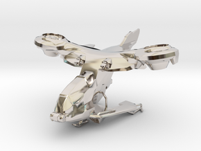 AV-14 Hornet  1:100 in Rhodium Plated Brass