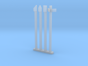 HO NSWGR Mile Posts - Old Rail Type in Smooth Fine Detail Plastic
