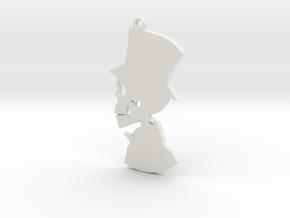 """""""His"""" Pendant in White Natural Versatile Plastic"""