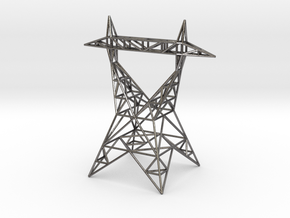 Pylon Earrings Stand ver.2 in Polished Nickel Steel