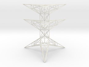Pylon Accessories Stand Tower 2 in White Natural Versatile Plastic