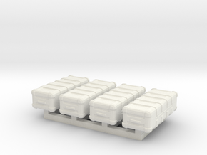 1/87 Scale Weapons Cases v5 x4 in White Natural Versatile Plastic