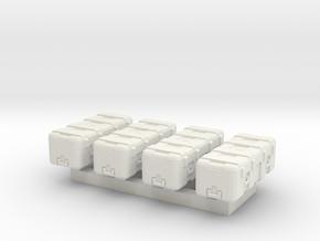 1/87 Scale Heavy Equipment Case x4 in White Natural Versatile Plastic