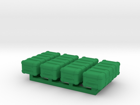 1/87 Scale Weapons Cases v5 x4 in Green Processed Versatile Plastic
