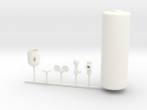 1/10 scale ACETYLENE KIT in White Processed Versatile Plastic