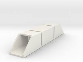 N Single Track Box Culvert Set 2x2m in White Natural Versatile Plastic