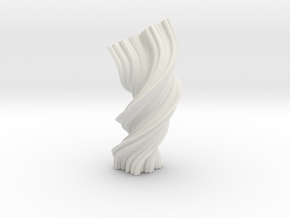 Vase 67 in White Natural Versatile Plastic