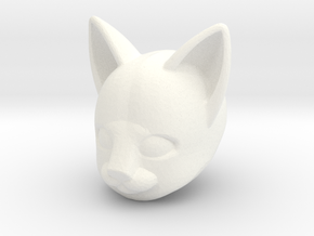 Anthro Cat Head (Marvel Legends Version) in White Processed Versatile Plastic